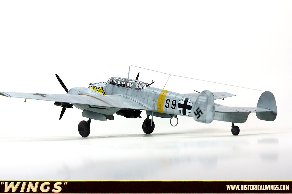 Me 110 e-2 White Kutscha 1:72 Fighters of World War II modelo terminado